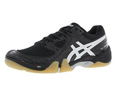 5a2d0d65674e ASICS Womens Gel Dominion Volley Ball ShoeBlackSilverWhite8 M US -- See  this great product.