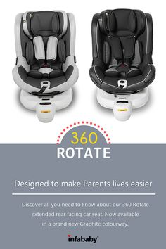 The Infababy 360 Rotate extended rear facing car seat was designed with both mother and baby in mind. With just the simple click of a button the car seat can turn from rearward facing to forward facing, making a complete 360 rotation. This extended rear facing car seat is now available in a brand new graphite colourway. Discover all you need to know about the Infababy 360 rotate car seat in our latest blog post!