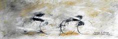 """""""POLVERE DI STRADA"""" -  opera di Roberto Sironi - acrilico su tela - 20 x 60"""