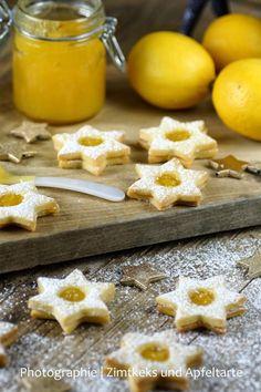 Weihnachtsklassiker im neuen Gewand: Zitronen-Spitzbuben mit Lemon-Curd - Zimtkeks und Apfeltarte