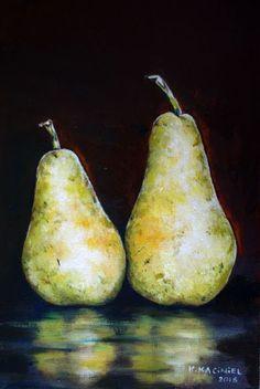 "Buy "" A pair of Pears III"", Oil painting by Hanna Kaciniel on Artfinder. Pears, Oil Painting On Canvas, Artworks, Original Art, Illustration, Image, Style, Swag, Illustrations"