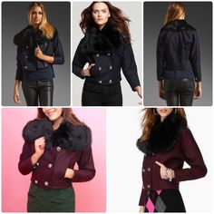 Juicy Couture burgundy wool jacket xs worn once,❌NO TRADE‼️ Juicy Couture Jackets & Coats