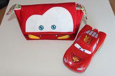 Bolso rayo Mcqueen + patrón gratuito made by Puppetilandia --- free bag pattern Rayo Mcqueen, made by puppetilandia