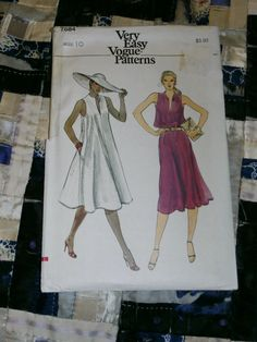1980s Vogue Pattern 7684 for Misses Dress Size 10 by lakeviewarts, $8.00
