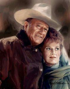 John Wayne & Maureen O'Hara ~ Jerry Harris