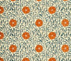 orangedaisies fabric by ragan on Spoonflower - custom fabric