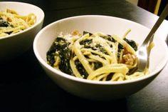 Beer-braised sausage and kale pasta