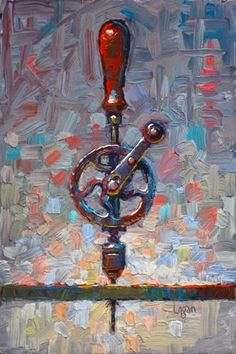 """Daily Paintworks - """"My Ben Hur Hand Drill"""" by Raymond Logan Painting Still Life, Still Life Art, Paintings I Love, Painting Styles, Jim Dine, Art Addiction, A Level Art, High Art, Everyday Objects"""
