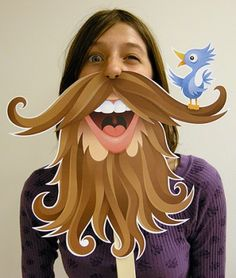 Everybody loves a good Photo Booth don't they? Personally, we can't resist jumping in one if it includes any sort of extravagant hat ormustache! Is it a little extreme to say we want our very own photo booth in our office? We think not! And since the props are so EASY to make why not make your own photo booth too? Hang up a funky sheet, grab your camera & get printing out some of these awesome FREE props!  1. Movember may be over...but these radmustaches& beards from Creative Juice can…