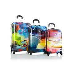 Heys Cruise Luggage Set 3PC Fashion Hardcase Expandable TSA Spinner Suitcases