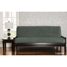 brooks futon slipcover upholstery  lagoon   http   delanico   futons texas futon cover   full size fits 8 and 10 inch mats   texfc by      rh   pinterest