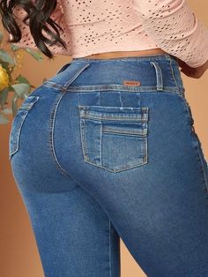 'Admire Me' Butt Lift Levanta Cola Jeans 12600 – Colombiana Boutique Thalia, Brazilian Pants, Black Girls Hairstyles, Easy Hairstyles, Dark Blue Skinny Jeans, Comfortable Jeans, Blue Boots, Spring Outfits Women, Best Jeans