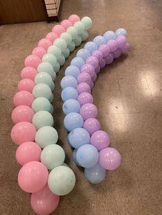 Rainbow Balloon Arch, Balloon Clouds, Balloon Garland, Rainbow Cloud, Rainbow Party Decorations, Birthday Balloon Decorations, Birthday Balloons, Baby Shower Decorations, 1st Birthday Party For Girls