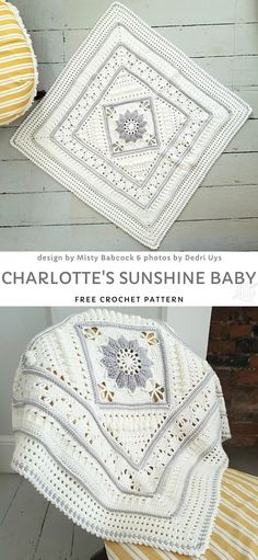 Charlotte's Sunshine Baby Free Crochet Pattern - The Effective Pictures We Offer You About crochet A quality picture can tell you many things. Crochet Afghans, Crochet Blanket Patterns, Baby Blanket Crochet, Crochet Stitches, Knitting Patterns, Knit Crochet, Crochet Square Patterns, Baby Afghans, Free Crochet Square