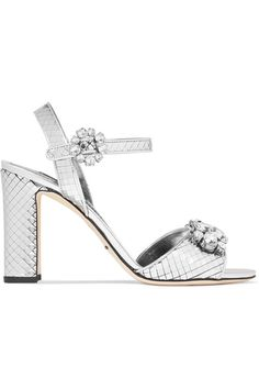 4b25d76159d0 SHINE BRIGHT  Dolce  amp  Gabbana s  Bianca  sandals are made from high-