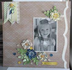 Artisan Design Team - Sarah Sagert - Box # 8 secret garden scrap page