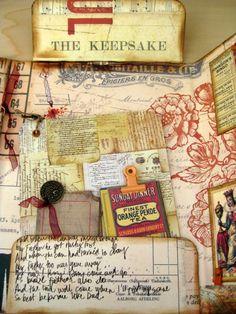 7 Gypsies Portfolio - by Becky, Becky's Scrapbook Burblings Junk Journal, Journal Ideas, Pocket Letters, Album Book, Handmade Books, Mini Books, Scrapbooks, Mini Albums, Cardmaking