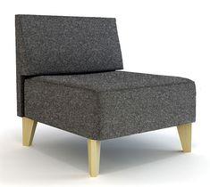 Butaca sin brazos Moderna Urban   Material: Acero Inox.   Mueble realizado en acero inox y madera de hayaExiste la posibilidad de realizar el mueble en diferente color de acabado y tapiceria, ver imagenes de galeria ... Desde Eur:467 / $621.11