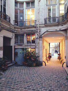 Paris courtyard.