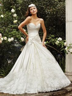 satin fit and flare wedding dresses   ... Fit N Flare Floor Length With Lace Sweetheart Romantic Wedding Dresses
