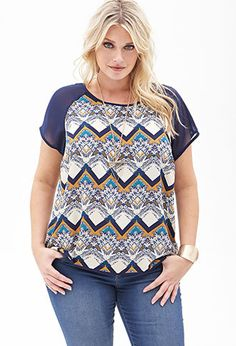 Abstract Zigzag Top | FOREVER21 PLUS - 2000057331 - http://AmericasMall.com/categories/juniors-teens.html