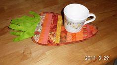 Carrot mug rug, cute
