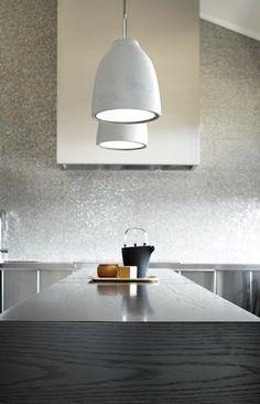 Strata Art Glass Pendant Light Shades Of Light. DIY Kitchen Lighting Upgrade: LED Under Cabinet Lights . Home and Family Modern Pendant Light, Glass Pendant Light, Pendant Lighting, Pendant Lamp, Cement Bench, Diy Kitchen Lighting, Suspension Cable, Beacon Lighting, Kitchen Benches