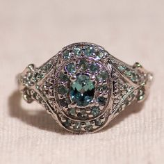 Save 20% with coupon code ILOVE20, Valid through 2/15/15. $399 - Modern Unique Elegant 14K White Gold Ring Mint Green Topaz OaksJewelryBoutique