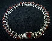 Unique 1/2 Persian 3-in-1 Bracelet with Garnets