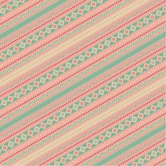 Pink and green tribal