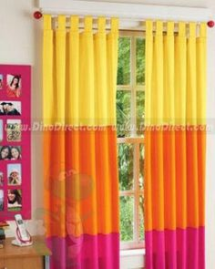 The girls room.. curtain ideas.