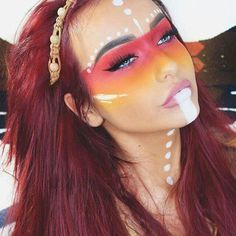 Explore Halloween Makeup Ideas of All Time in this gallery. We share a huge collection of the best Halloween makeup ideas ever shared on internet. Makeup Fx, Rave Makeup, Makeup Inspo, Makeup Inspiration, Makeup Ideas, Prom Makeup, Halloween Looks, Halloween Face Makeup, Halloween 2017
