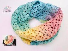 EASY crochet spring LOOP / beginner - Knitting for Beginners How To Start Knitting, Easy Knitting, Knitting For Beginners, Knitting Scarves, Beginner Crochet, Crochet Simple, Love Crochet, Crochet Loop, Knitting Projects