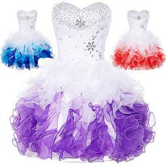Semi Short Quinceanera Prom Dress Formal Prom Bridesmaid Party Ball Gown Dresses