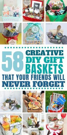 From birthdays to baby showers, housewarming to get well soon, Christmas, and even PTA fundraisers these DIY gift baskets are total show stoppers! gift baskets for men These DIY Gift Baskets are Unforgettable and Will Totally Steal the Show Family Gift Baskets, Creative Gift Baskets, Best Gift Baskets, Gift Baskets For Women, Themed Gift Baskets, Raffle Baskets, Gift Basket Themes, Housewarming Gift Baskets, Kitchen Gift Baskets