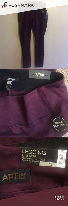 Apt 9 burgundy tummy control leggings Burgundy tummy control leggings Apt. 9 Pants Leggings