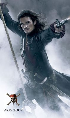 *WILL TURNER, played by: Orlando Bloom in Pirates of the Caribbean: At World's End, 2007