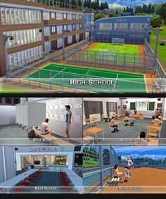 High School for The Sims 4 Sims 4 Game Mods, Sims 4 Mods, Sims 4 Ladybug, Sims 4 Traits, Muebles Sims 4 Cc, The Sims 4 Packs, The Sims 4 Lots, Sims 4 House Design, Sims 4 Gameplay