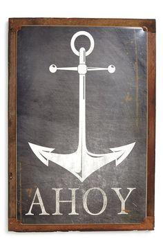 'Anchor Ahoy' Sign