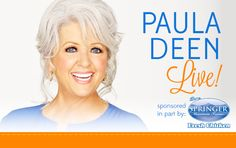 I'm so excited to announce the Paula Deen Live! I'm coming soon to a city near you, so make sure to get your tickets. Use PRE-SALE CODE: Visit Savannah, Savannah Chat, Savannah Georgia, Chef Recipes, Food Network Recipes, Party Tickets, Good For Her, Fresh Chicken, Win A Trip
