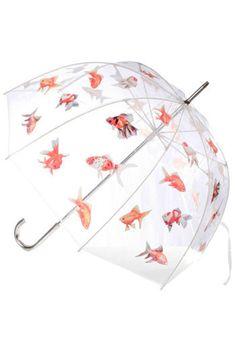 Big Fish Umbrella from Modcloth Cat Umbrella, Dome Umbrella, Under My Umbrella, Betta, Teen Witch, Vintage Umbrella, Umbrellas Parasols, Rain Gear, Little Girls