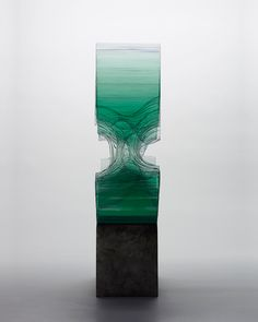 """Glass sculptures by Ben Young. This on is titled """"Parallels l"""". See more at http://brokenliquid.com"""