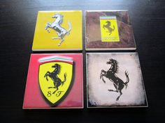 Take a look at my #Ferrari coasters - https://www.etsy.com/it/listing/230565301/set-of-4-ferrari-drink-coasters-ceramic