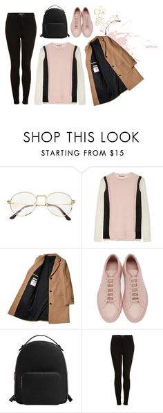 """""""Unbenannt #220"""" by elliyxn ❤ liked on Polyvore featuring Vince, Common Projects, MANGO, Topshop and Charlotte Russe"""