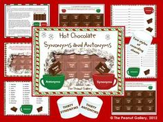 On a cold winter day, synonym and antonym practice will be much sweeter with this hot chocolate theme activity! ($)