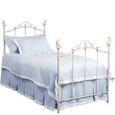 THE WELL APPOINTED HOUSE - Luxury Home Decor- Bunny Finial Wrought Iron Bed