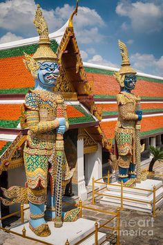 Asia Photograph - Buddhist Guardians by Inge Johnsson