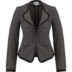 Armani Collection Grey & Black Houndstooth Knit Blazer