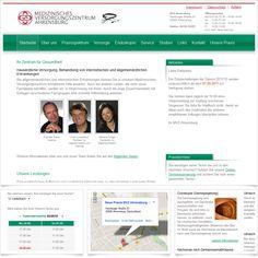 Internetseite Medizinisches Versorgungszentrum Ahrensburg / Leistungen: Konzeption, Webdesign, Technische Umsetzung / Techniken: PHP, Javascript, AJAX, mootools, XHTML, CSS
