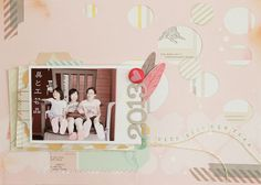 S-photo time: American Crafts New Years layout &card